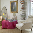 White Traditional Family Room