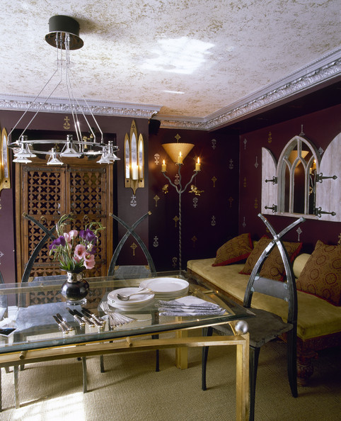 Purple Eclectic Dining Room