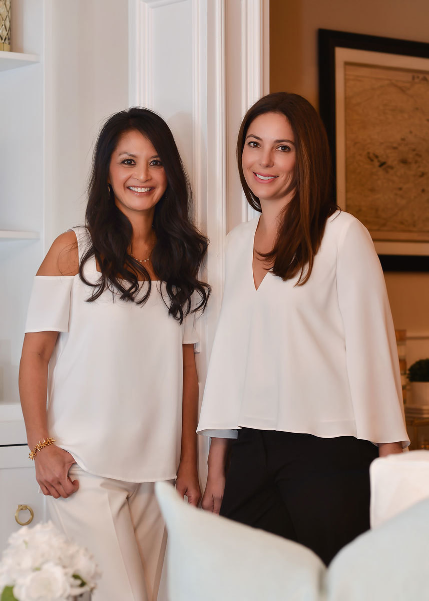 Interior designer Jeanne Campana with friend and client, fashion designer Kara Mendelsohn.