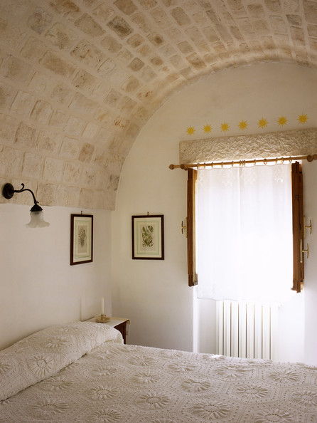 White-Yellow Country Bedroom
