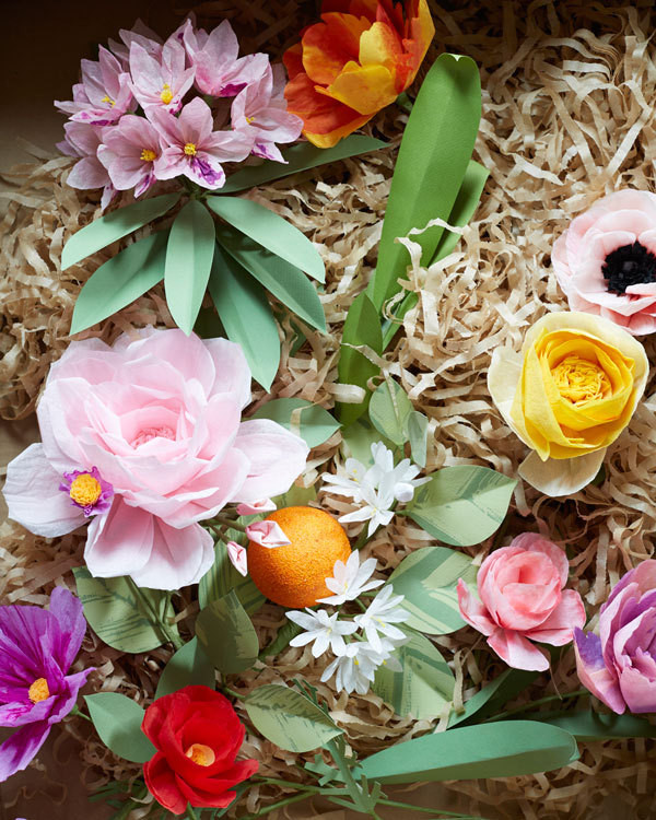 An easter table in blooming color decorating lonny cettis artificial blooms are miniature craft masterpieces mightylinksfo