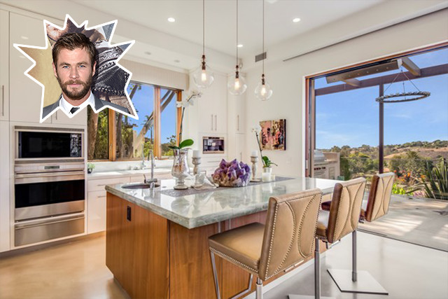 Chris hemsworth the best celebrity kitchens ever lonny for Nicest kitchen ever