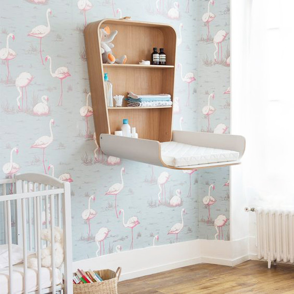 Mounted Changing Table Keeps Floorspace Open