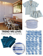 Trend We Love: Painterly Blue-and-White Stripes