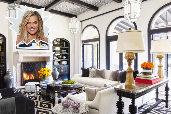 Khloe kardashian 39 s living room 25 celebrity rooms we Kourtney kardashian living room curtains