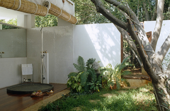 Outdoor Approach Modern Bathrooms Lonny