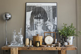 A textural tabletop vignette of art and antique finds | Lonny.com