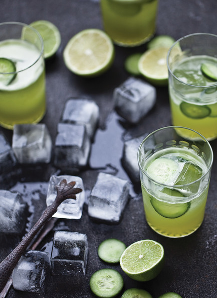 Cucumber Gimlet - 12 Recipes to Add Color to Your Summer Table - Lonny