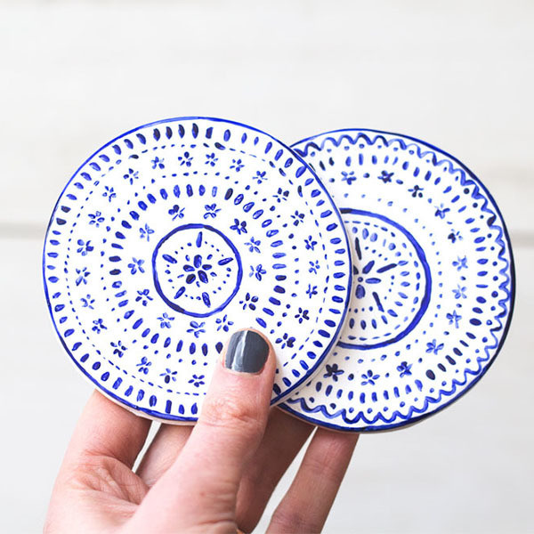 Tile-Inspired Coasters