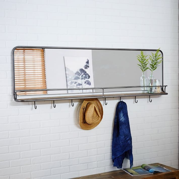 Entryway Mirror + Hooks: $549, West Elm