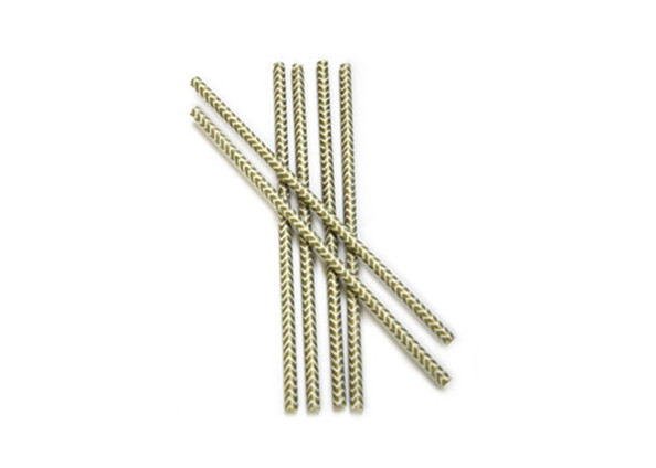 Paper Chevron Straws in Gold by Paper Presentation