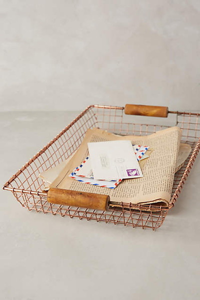 Rosy Wire Basket