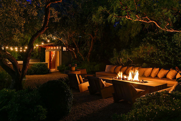 The Fireside at Night