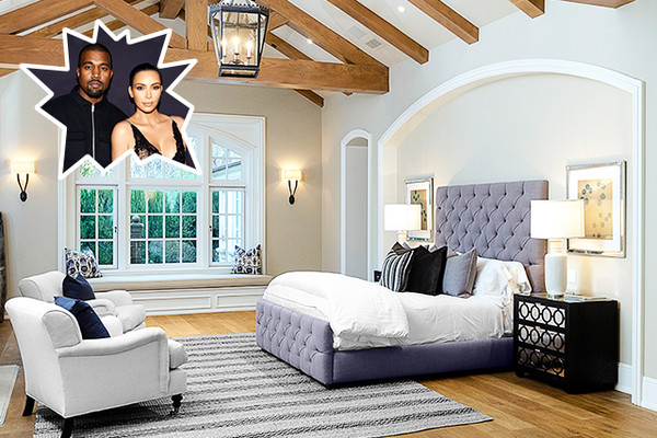Kim kardashian kanye west the best celebrity bedrooms for Celebrity bedroom ideas