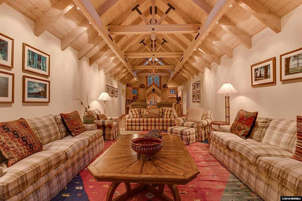Grand Room - Inside Mark Zuckerberg's $59 Million Lake Tahoe Compound - Lonny