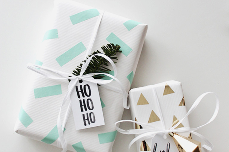 8 gift wrapping ideas better than a stick on bow do it yourself diy washi tape wrapping paper solutioingenieria Images