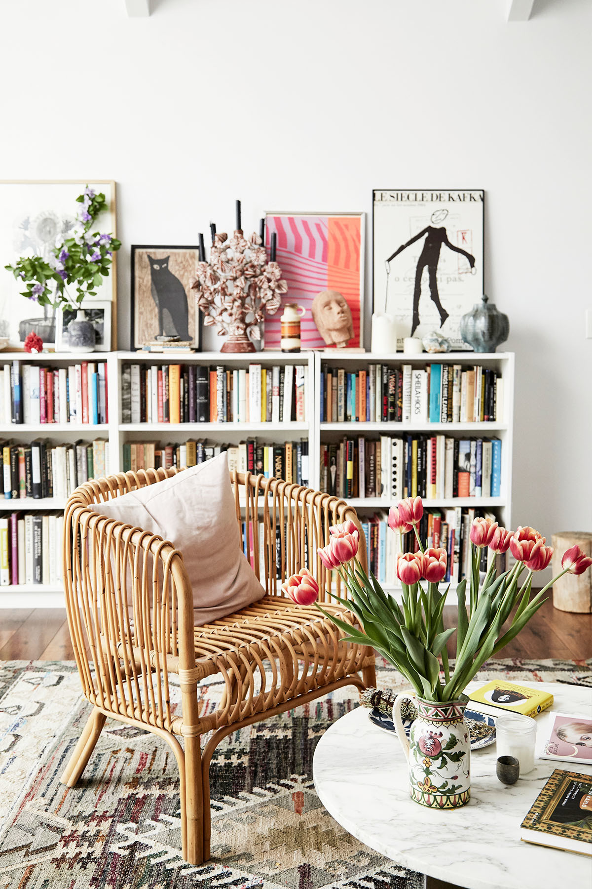"""I find rugs are really frustrating to buy,"" says Gran. ""It's hard to find ones that are big and nice and don't cost a fortune. So I buy all my rugs from Craigslist, eBay or thrift shops — I love them all equally."" Vintage Rug 