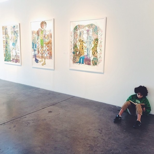Solange Museum Hops (With Her Son!)