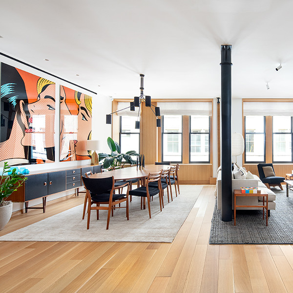 This Cool Pre-War Loft In Soho Is An Art-Filled Dream