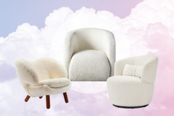 A Dozen Times The Bouclé And Shearling Chair Proved It's A Classic