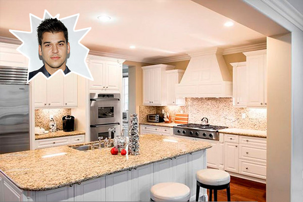 Rob kardashian the best celebrity kitchens ever lonny for Nicest kitchen ever