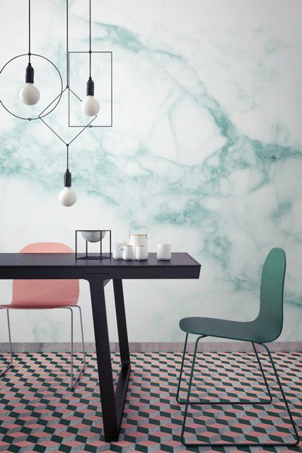 Marble wallpaper pinterest predicts the top home trends for Home trends wallpaper