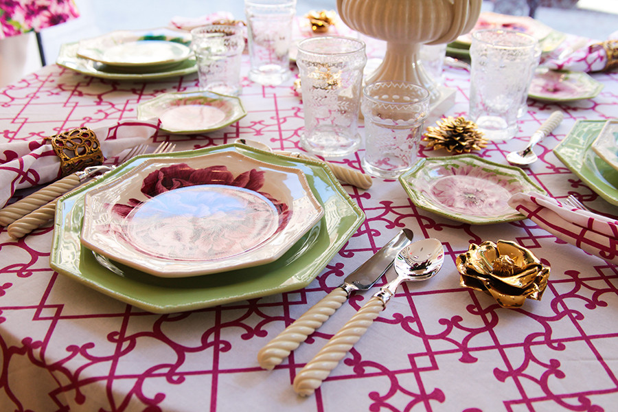 Oscar De La Renta Home carolina irving talks oscar de la renta's garden-inspired tabletop