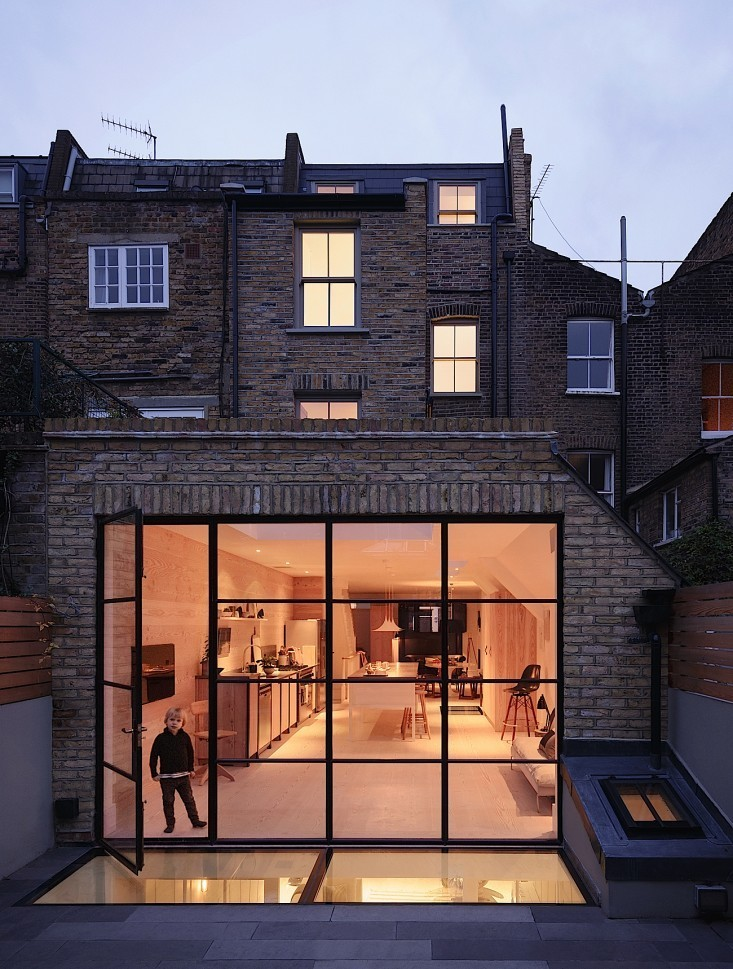 London townhouse by Daniel Lee via Remodelista.