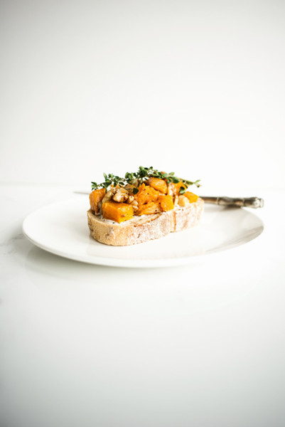 Roasted Pumpkin And Citrus Tartine