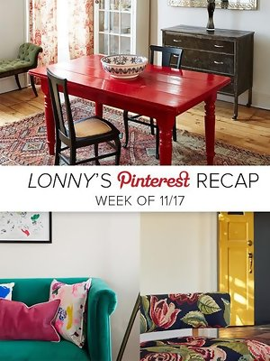 Lonny's Top Pins of the Week: Pop of Color