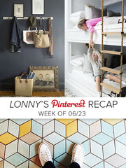 Lonny's Top Pins of the Week: Floors, Hooks, Ladders
