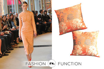 Emilia Wickstead Brocade Dress vs. Vintage Obi Pillow