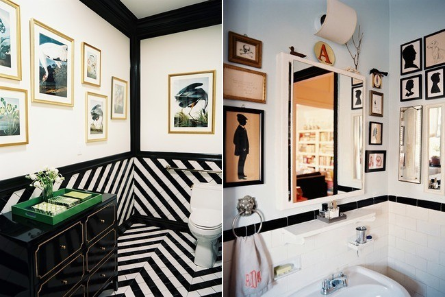 Yea or Nay: Art in the Bathroom?   Lonny.com