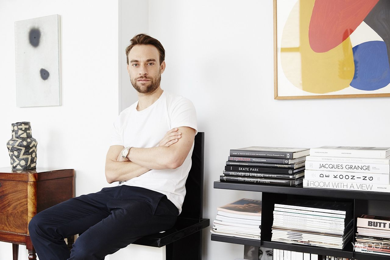 Ashe + Leandro cofounder Reinaldo Leandro in his Manhattan apartment.