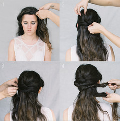 Wedding Hair Tutorial: Crown Braid Chignon