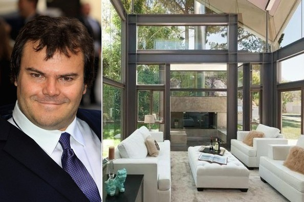 Actor Jack Black's Modern Hollywood Pad