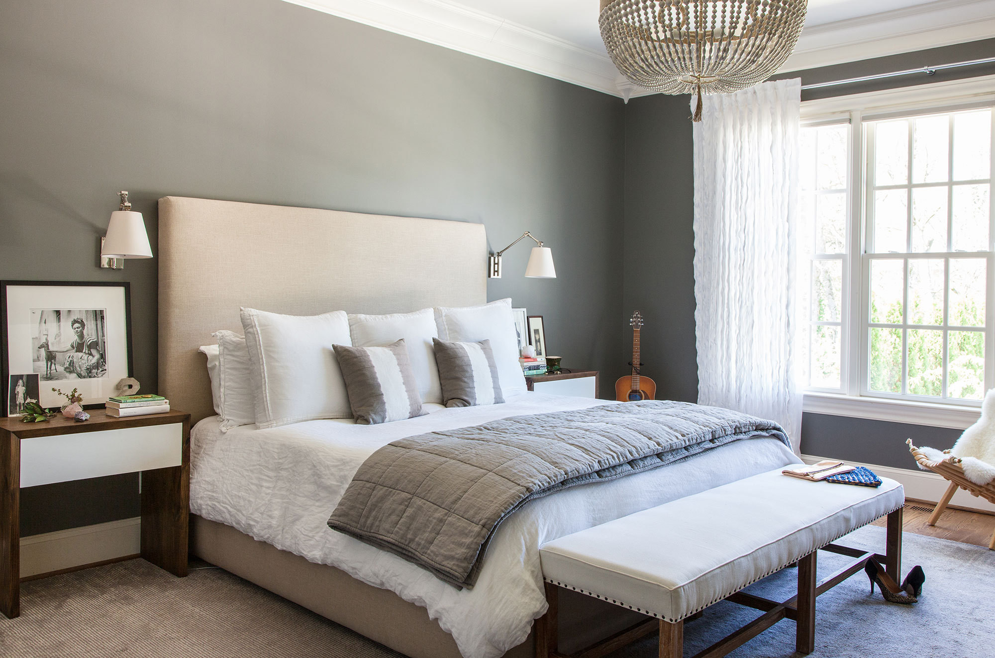 Moment of calm home tour crowell interiors project in for Danish interior design bedroom