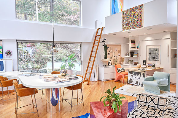 A Peek Inside A Furniture Collector's Technicolor Upstate Home