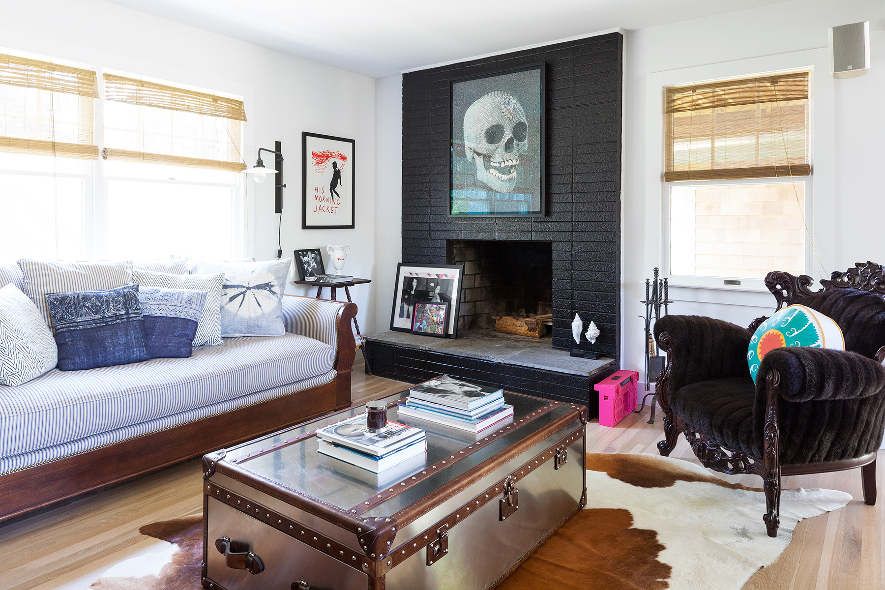 Style Cowhide Rugs In 5 Different Ways See It Now Lonny