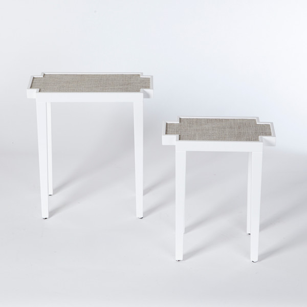 Tuesday Morning White Nesting Tables See What Lonny S