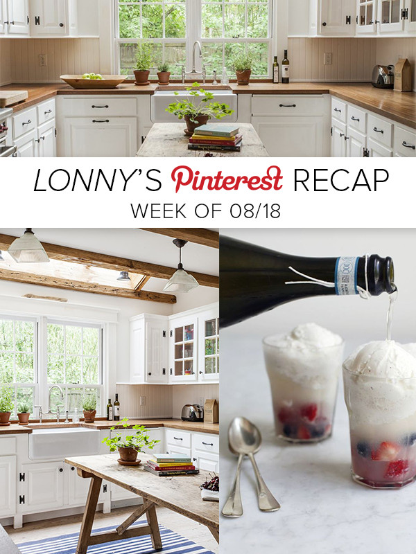 Lonny's Top Pins of the Week: The Perfect Summer Snack and a Sag Harbor Kitchen