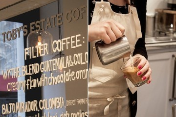 Signs of Saturday: Toby's Estate Coffee Opens in Manhattan
