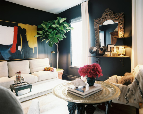 Wall Colour Inspiration: Paint It Black: Dark Walls Are A Yea...or A Nay?