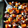 Maple Roasted Pumpkin With Chili And Feta