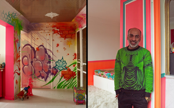 Home Tour: Manish Arora's Colorful Paris Apartment