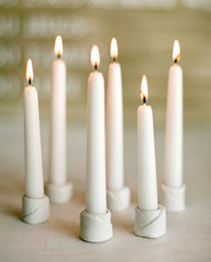DIY Wedding: Clay Candle Holders