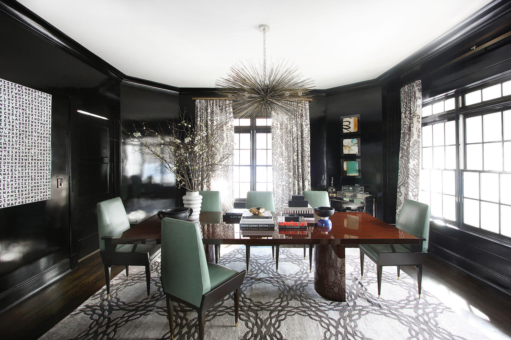 Glamour in the suburbs home tour lonny for Rosenthal home designs