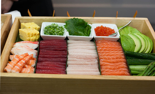 Nobu's new sushi catering box.