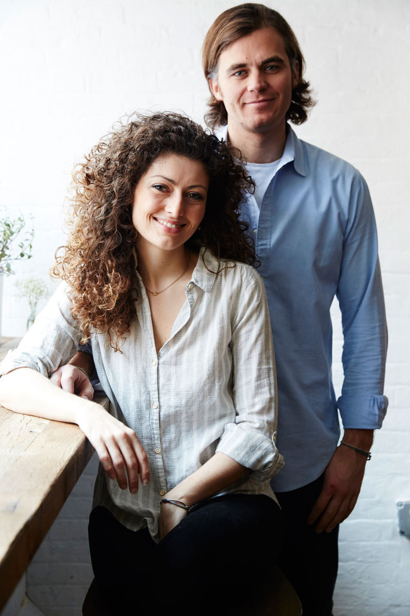 Elisa Marshall and Benjamin Sormonte at their café.