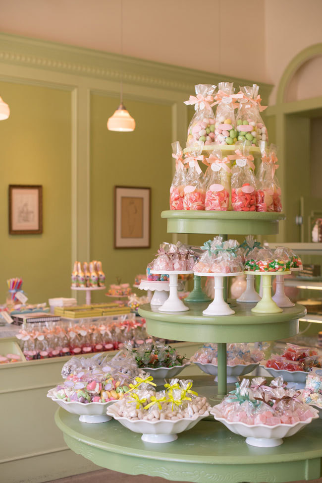 A spread of delectable treats at the Marin Country Mart location of Miette, in Larkspur, California.